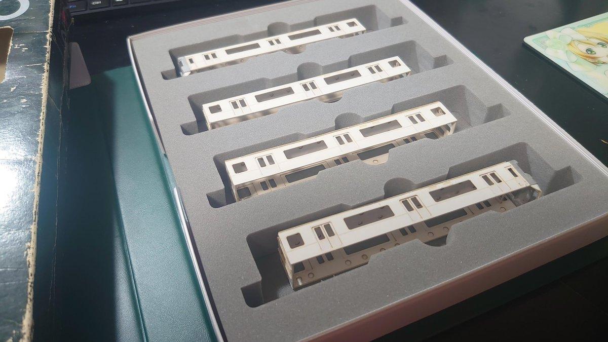 test ツイッターメディア - 紆余曲折あり、板状だった厚紙がここまで組み上がりました。 感無量です😭  #模型工房パーミル  #神戸電鉄 https://t.co/Cj7oeHvGfv