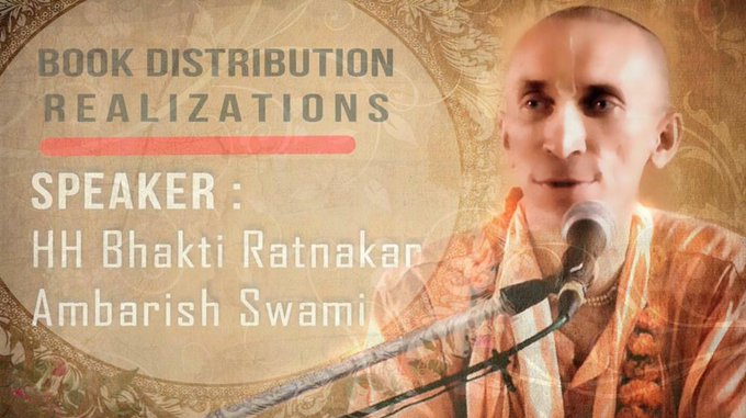 Book Distribution Seminar - Realizations by HH Bhakti Ratnakar Ambarish Swami (video)Watch it he....
