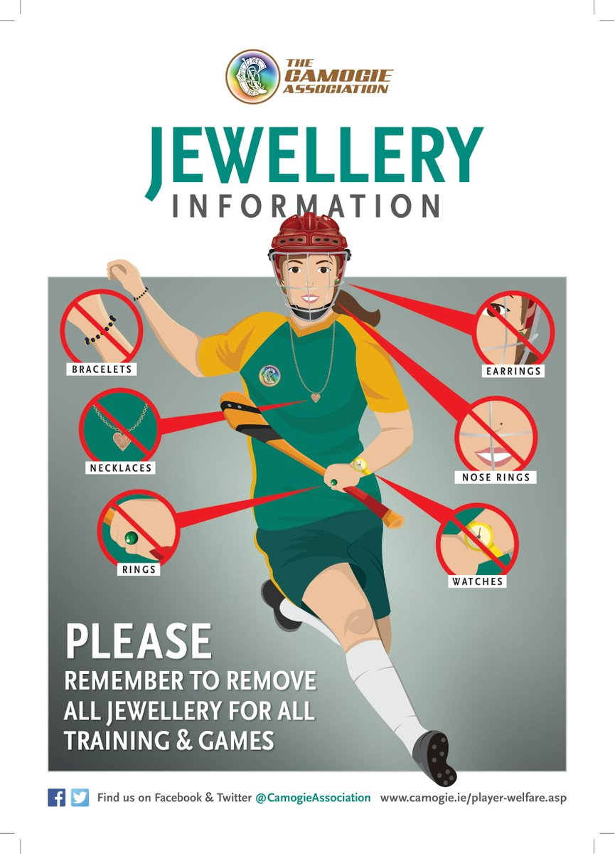 test Twitter Media - RT @OfficialCamogie: ❌ No Jewellery ❌  Remember to remove all jewellery before taking part in training and matches! https://t.co/1QBDdcZDaD