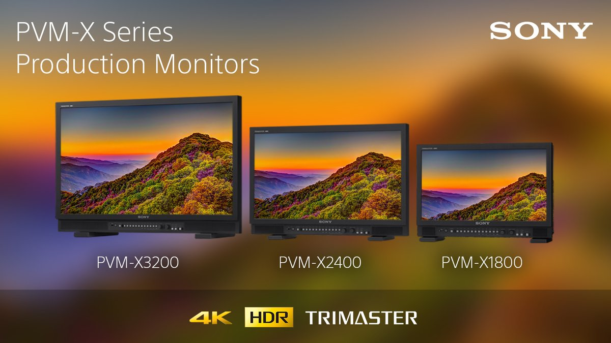 Sony recently announced a new addition to the PVM-X family of production monitors. The PVM-X3200 is a 32-inch 4K HDR TRIMASTER high grade picture monitor that offers colour matching with the BVM-HX310 reference monitor.