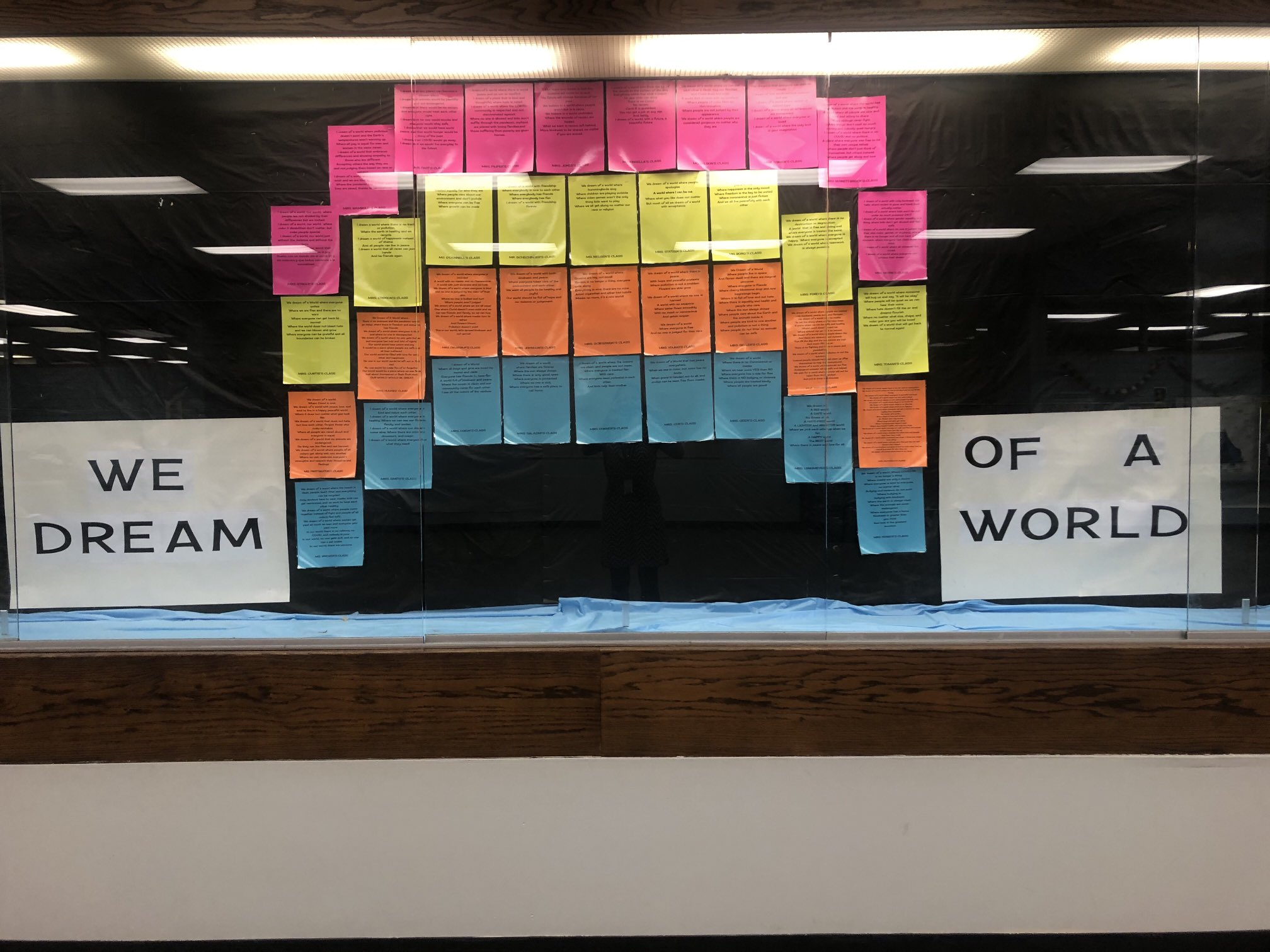 Our Titan Hill collective poem, I Dream of a World..., is complete!  Stay tuned for more photos you can zoom in to read more clearly!  Shout out to 3rd grade teacher, Mrs. McDonald, for her integral role in planning and posting this wonderful project! https://t.co/12vv70WgaX