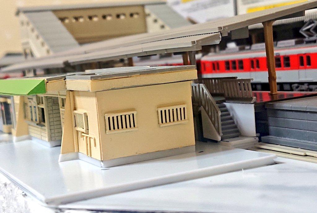 test ツイッターメディア - 神戸電鉄長田駅付近レイアウト制作  屋根の切り継ぎ、延長、追加。 駅の中央階段、トイレへの階段の制作。 神鉄長田駅を知ってる人しか知らない内容ですいません。 #神戸電鉄 #長田駅 #Nゲージ https://t.co/PU1gMXkVKN