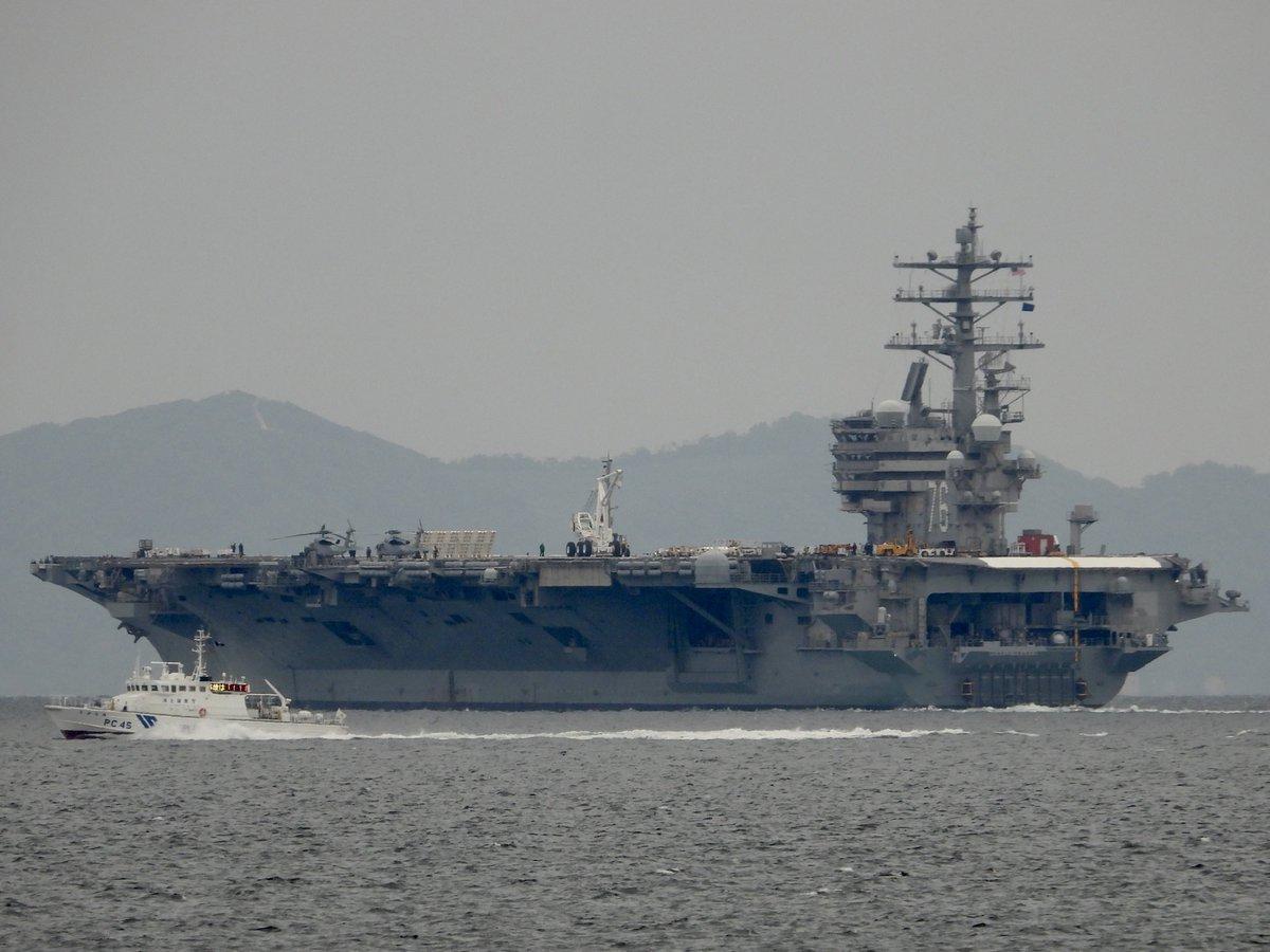 test ツイッターメディア - 🇺🇸USS Ronald Reagan(CVN- 76) との共演  海上保安庁 PS-07 あしたか & PC-45 すがなみ 東海汽船 セブンアイランド愛  DD-101「むらさめ」との交差もありましたが、微妙に…見れませんでした🤣 https://t.co/VrWGtN8A9w
