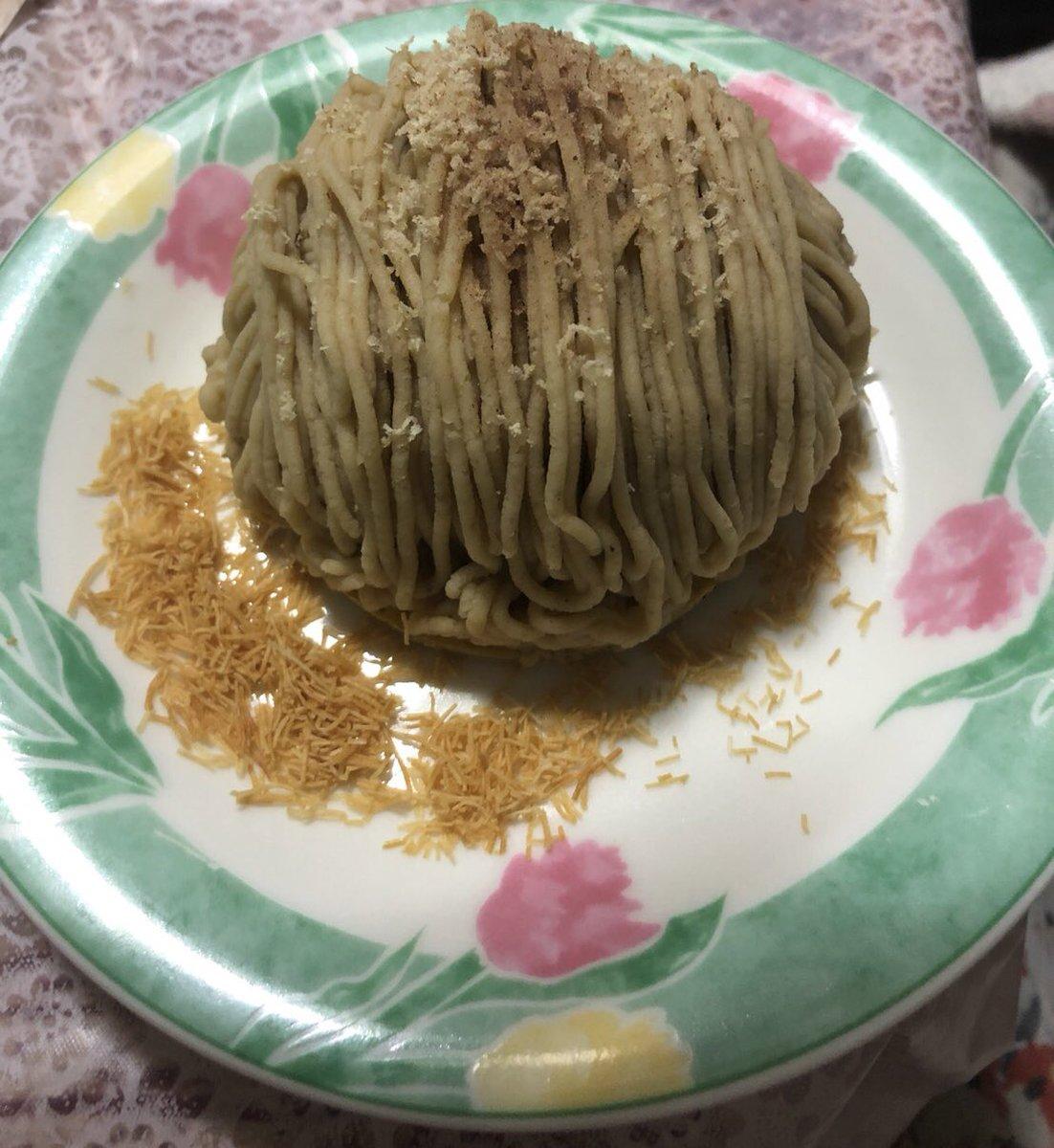 test ツイッターメディア - 京焼きぐり 比沙家さんの モンブラン✨ 中に抹茶のムース入ってて 甘すぎず最後まで美味しく頂きました。 https://t.co/JjD7UJUnqY