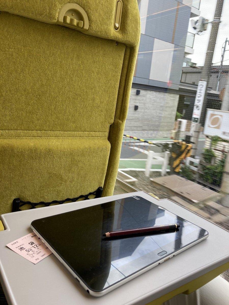 test ツイッターメディア - 特急Laviewで埼玉出張。この車両好きなんだよな〜 数百円でゆったりと行けるしシートはいいし。乗るのが楽しみな特急。流石に人は少ないね。raytrektabで絵を描きながらしばらくくつろぐ。 https://t.co/Q1HKiLVOCt