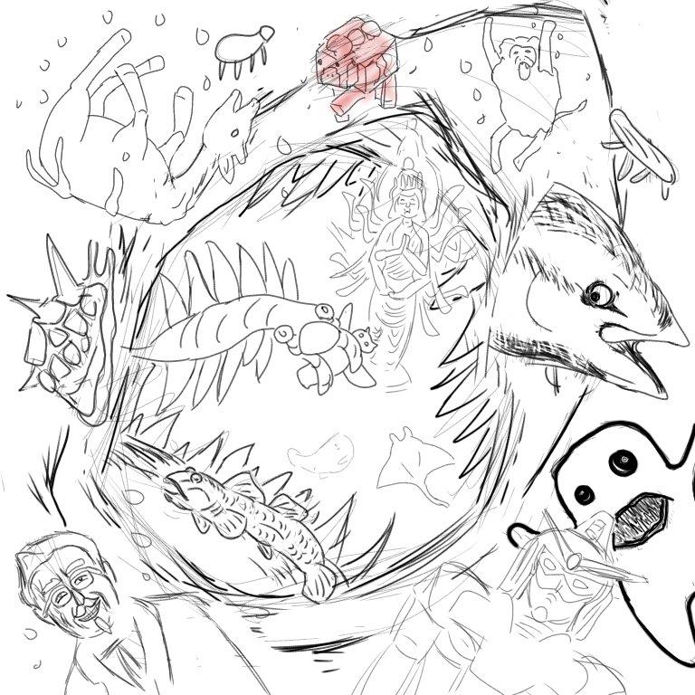 test ツイッターメディア - まとめ ⚫クリオネ ⚫オカピ ⚫マントヒヒ ⚫マンタ ⚫マッコウクジラ ⚫ムーシュルーム ⚫生け簀網に突き刺さって死亡したマグロ ⚫アノマロカリス ⚫カーネルサンダース ⚫ガンダム ⚫フラッティ ⚫オリジムシ ⚫千手観音 ⚫精霊馬 ⚫ヨシノボリ ⚫メガロドン です https://t.co/Fcf0w7FIqe