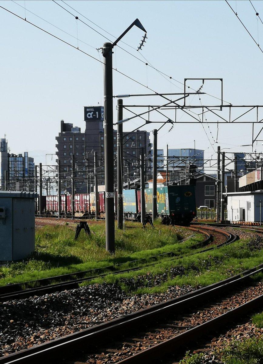 test ツイッターメディア - 貨物列車でクロネコヤマトさん初めて見たかも  #貨物列車 #クロネコヤマト https://t.co/PuEObW35px