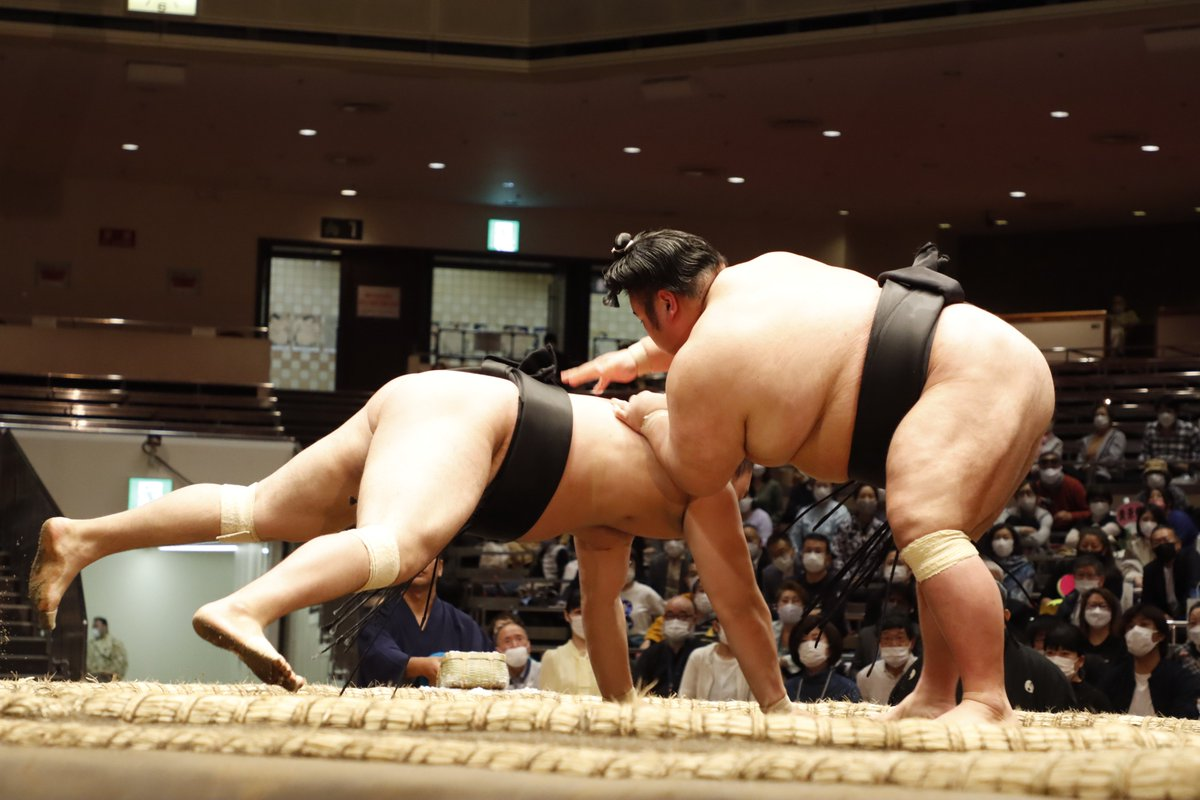 test ツイッターメディア - <五日目の様子> 幕内取組。 貴景勝(4勝1敗) 叩き込み 霧馬山(1勝4敗)  #sumo #相撲 #五月場所 #夏場所 https://t.co/WULkVzBBzZ