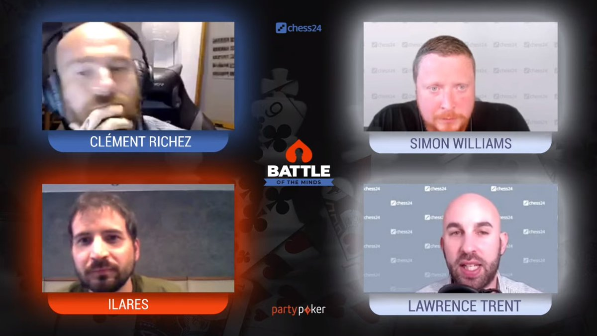 test Twitter Media - Lawrence Trent and Simon Williams will commentate on the Battle of the Minds between two of the very best French poker players and chess aficionados Clément Richez and ilares!  📺https://t.co/djchGGpSR6 https://t.co/xMUGKXlQzD
