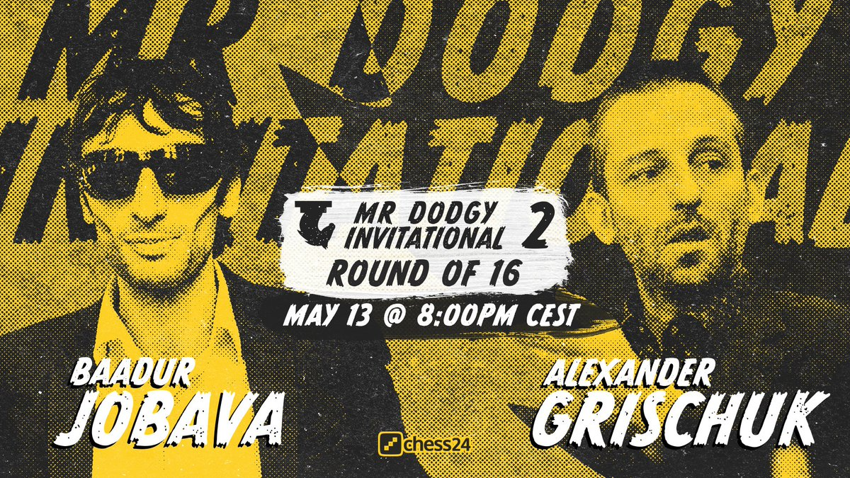 test Twitter Media - In just under 1 hour we've got the last Round of 16 Mr Dodgy Invitational match between Baadur Jobava and Alexander Grischuk! https://t.co/fHPUMtNW4v  #c24live #MDI2 https://t.co/cZtHMRxdMp