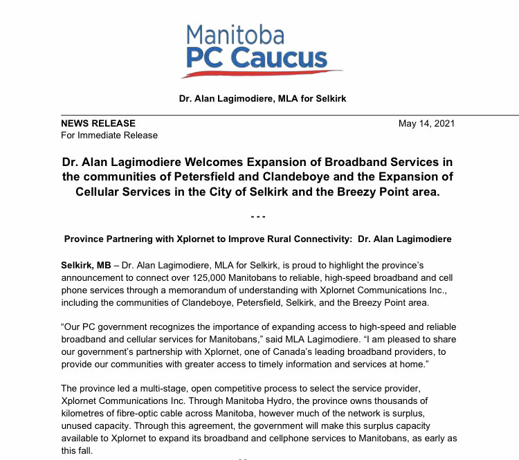 test Twitter Media - Expansion of Broadband and Cellular Services for the Selkirk Constituency. https://t.co/Fmw3n81uCa