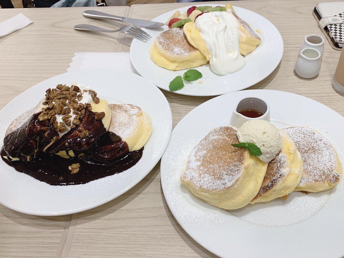 test ツイッターメディア - 幸せのパンケーキに親友達と行ってきました(*´꒳`*)💕 どちゃくそ美味しかったです…っ!!✨ https://t.co/Yy4umMQHda