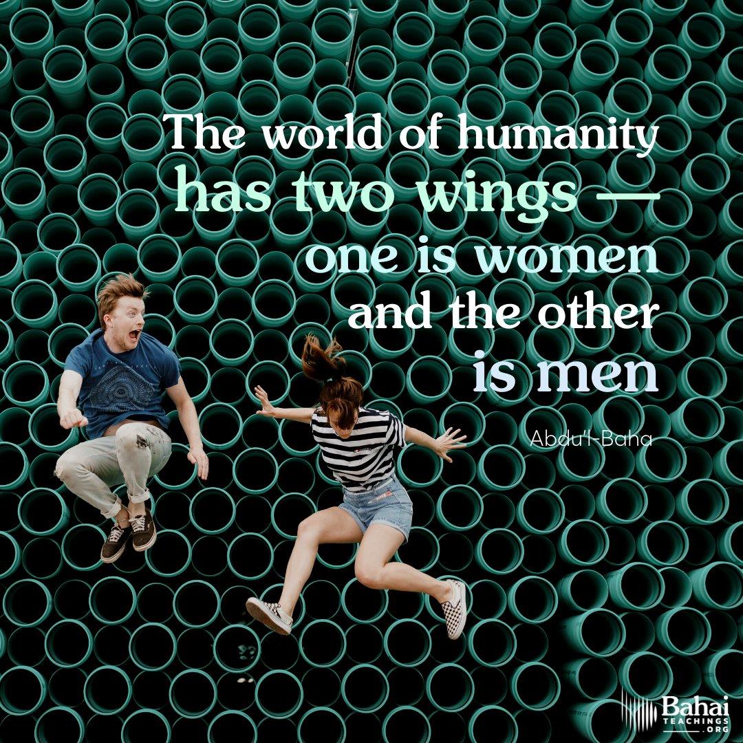test Twitter Media - The world of humanity has two wings—one is women and the other men. Not until both wings are equally developed can the bird fly. - #AbdulBaha  #bahai #spirituality #genderequality #women  (Selections of the Writings of 'Abdu'l-Baha) https://t.co/U03h1vxUeN