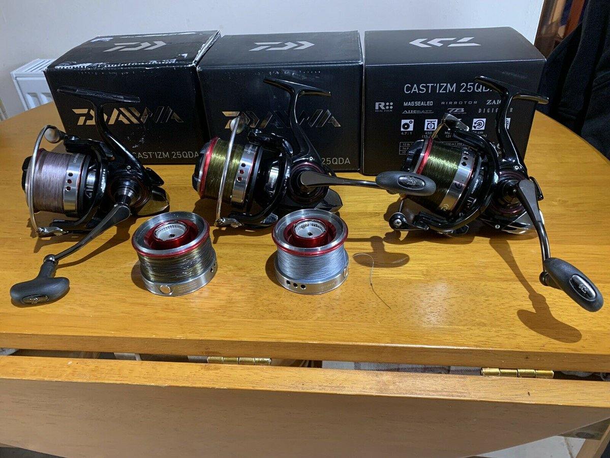 Ad - 3x Castizm 25QDA Reels On eBay here -->> https://t.co/POKOm4QeyP  #carpfishing #fishingta