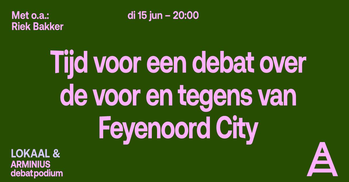 test Twitter Media - De Rotterdamse Rekenkamer plaatst vraagtekens bij de geplande miljoenen bijdrage van de stad voor een nieuw voetbalstadion. Tijd voor een debat over de bouw van het stadion en de gebiedsontwikkeling van #feyenoordcity | Morgen 20:00 uur | Tickets & info: https://t.co/m8Tsri1d7e https://t.co/980zIpJEwG