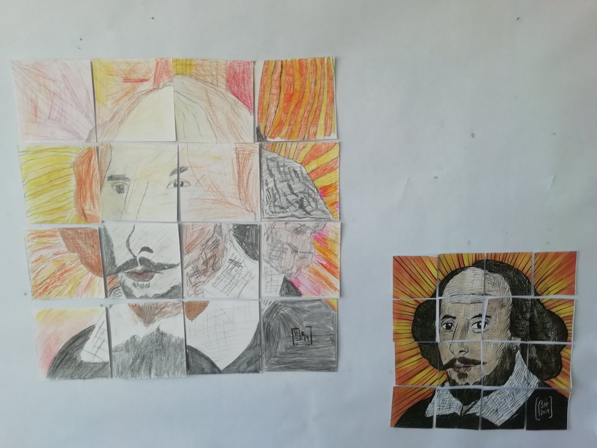 test Twitter Media - Shakespeare Week in the Deer Class. Do you like our SPP (Shakespeare Puzzle Portrait)? It's currently on display outside Mr Dix's office. Well done everyone. https://t.co/RNUyIWqQd7