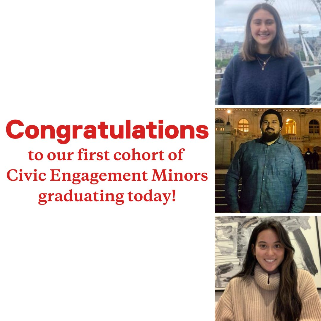 test Twitter Media - Congrats to the first graduating cohort of the new Civic Engagement Minor! Jordan Agricula, Robi Frederick, Claire Isenegger, and Thao Phan graduate today, and Charlotte Curnin, Tracy Cui, and Jarred Huennekens graduated in Fall 2020. https://t.co/D3JnzusaAU