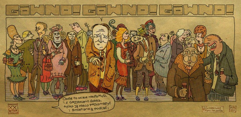 #lynxart #ilustracja #Gombrowicz