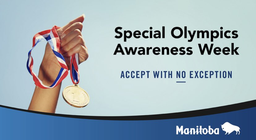 test Twitter Media - The second week of June is dedicated to #SpecialOlympicsAwarenessWeek in Manitoba. Recognizing the abilities of all athletes in our province, creating awareness for a more inclusive society and that we all continue to #AcceptWithNoException. https://t.co/D1Q6xaKHkR
