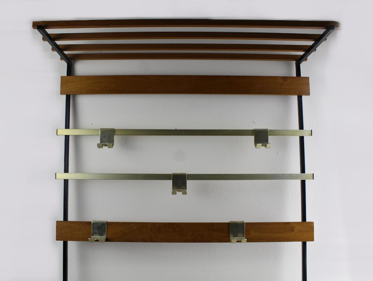 Wardrobe Wardrobe 50s Design furniture Vintage wood with 6...