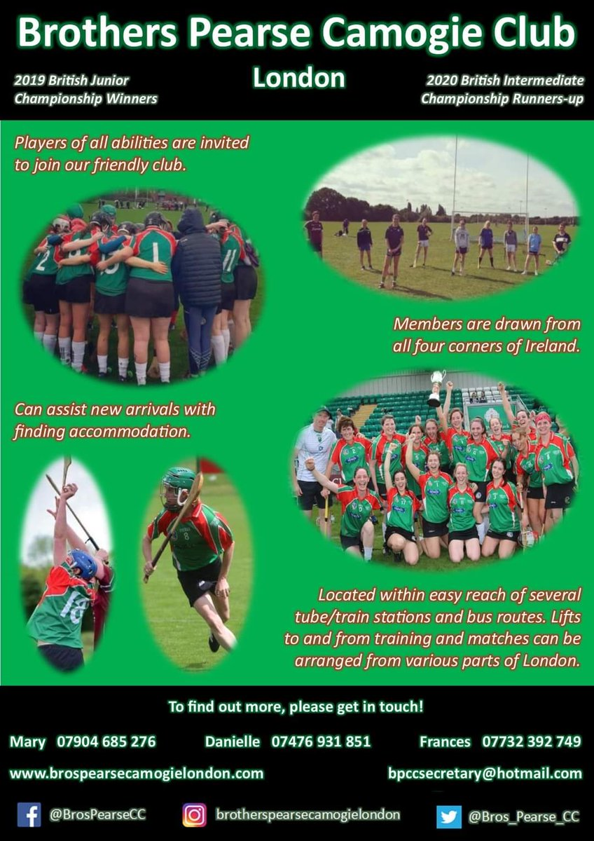 test Twitter Media - Players of all abilities are welcome to join our friendly club.  To find out more, please message or call us today!  #camogieinlondon #WomeninSPORT https://t.co/GNIiT6iBgD