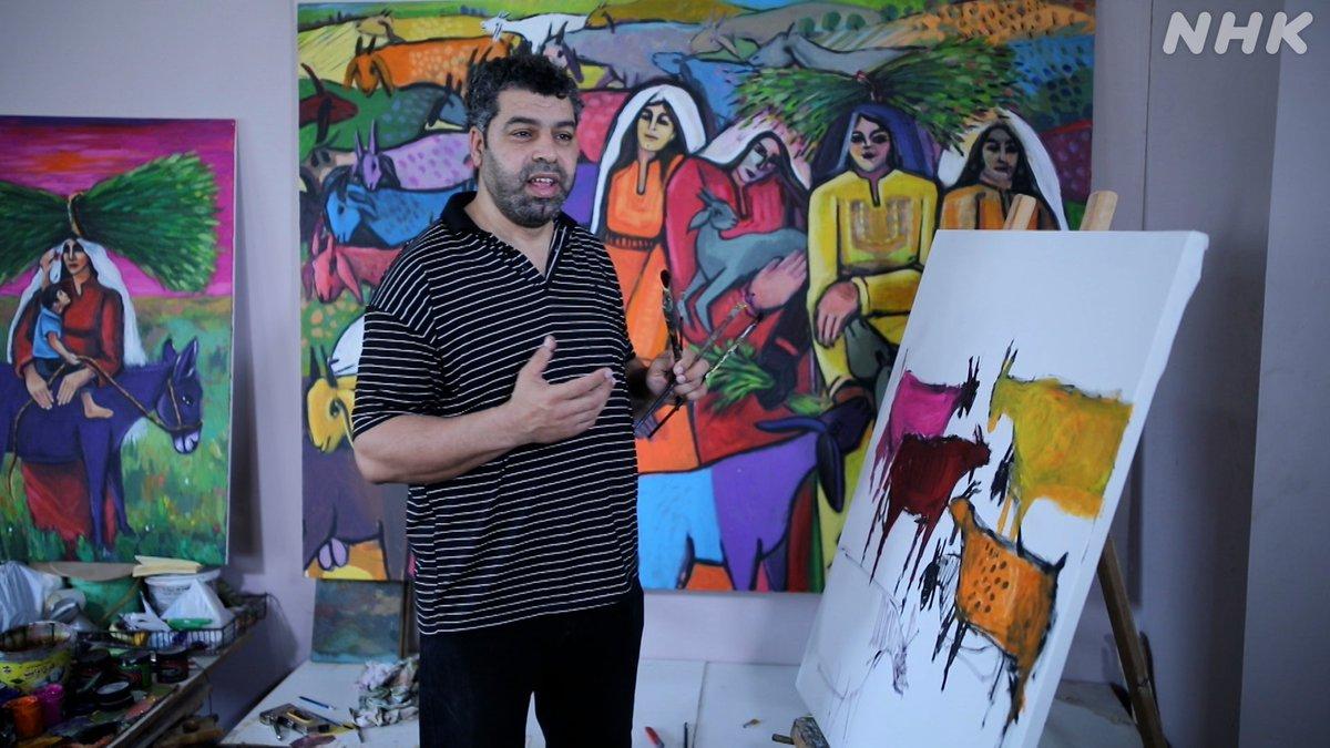 test ツイッターメディア - 【あすの日曜美術館】 パレスチナ・ガザのアーティストを支援し続けてきた画家 #上條陽子 死と隣り合わせの中、描き続けるガザの画家たち 創作風景やインタビュー映像 上條の新作にも密着 6月6日(日)午前9時〜 Eテレ https://t.co/IFj12Ba4O3 https://t.co/9iZVRwM6hY