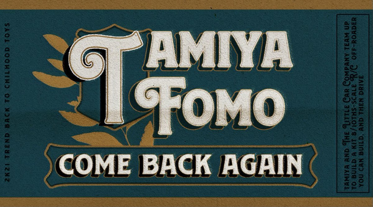 ArfZulfikar: New Fomo: Tamiya 🏎nn#⃝design #TwitterIgnite #AdobeSummit https://t.co/5izrWvbxFR