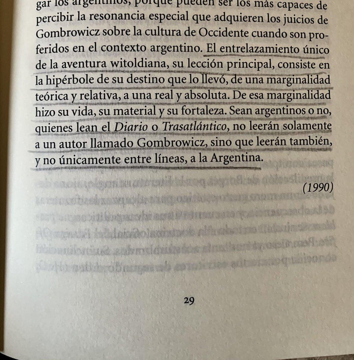 #JuanJoseSaer sobre #Gombrowicz