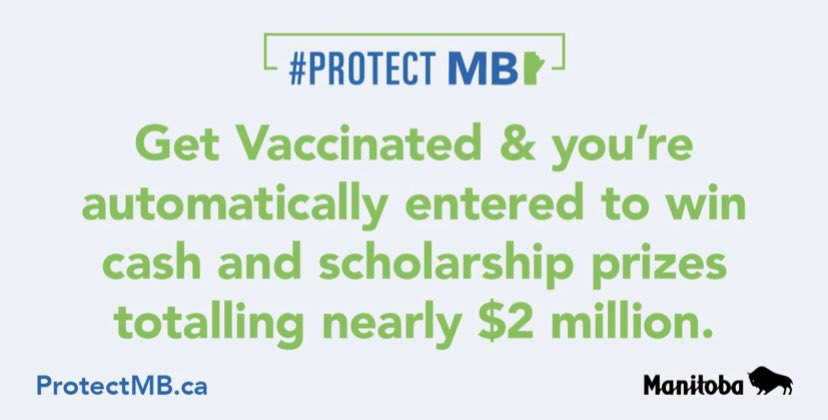 test Twitter Media - Today we introduce a new province-wide lottery for eligible Manitobans who have been fully vaccinated. We want to encourage everyone to book your #COVID19 vaccines as soon as possible to help us restore our province and keep Manitobans safe. https://t.co/uRs68135Sn