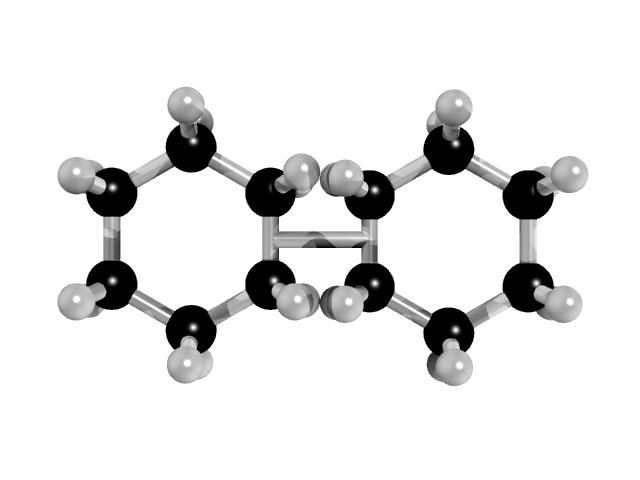 test ツイッターメディア - 古舘カップリング【ネタ】 アナウンサー古館伊知郎氏により提案されたカップリング反応により得られる化合物。シクロヘキサンのσ結合同士を結合させるというこれまでの化学の常識を覆す反応として有名である。なお中心の線がパラジウムである。 https://t.co/b0vRrvaGfU