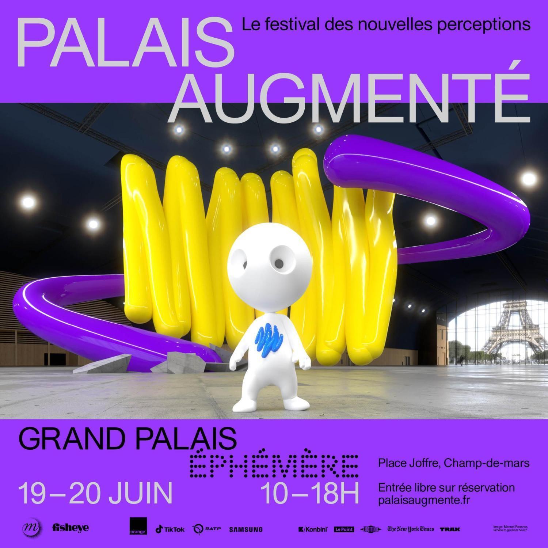 Festival consacré à la création artistique en réalité augmentée, le Palais augmenté investit le tout nouveau Grand Palais éphémère, les 19 et 20 juin 2021 à Paris. Une expérience unique pour une première mondiale !  Un festival imaginé par @GrandPalaisRmn et @Fisheyelemag https://t.co/6qA4R71iBx