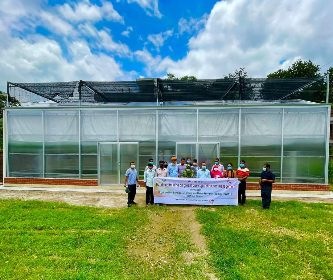 test Twitter Media - First phase of glasshouse construction now complete at  the Bangladesh Wheat & Maize Research Institute #BWMRI. Exciting progress to expand wheat blast screening & germplasm improvement supporting wheat production in Bangladesh #VirtualWheatTour #cgiarwheat @TJKrupnik https://t.co/wKwM7wWHVs
