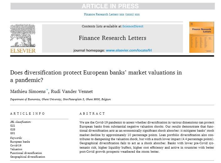 test Twitter Media - Hoe Europese banken hun aandelenkoersen konden beschermen tijdens de eerste fase van de Covid-19 pandemie: het belang van functionele diversificatie en liquiditeitsbuffers. Meer lezen: https://t.co/gNBEIIf2WW https://t.co/1tsHxu4p6V
