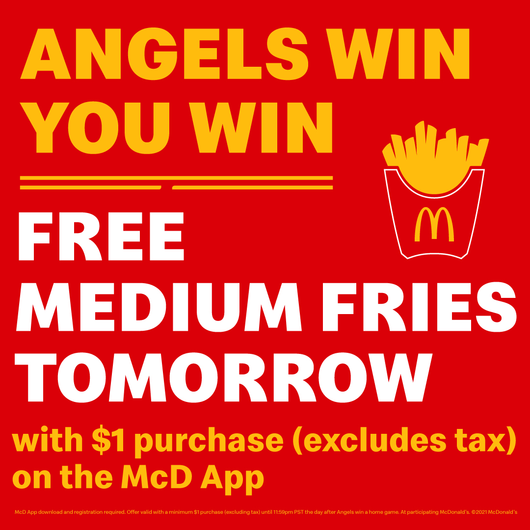 Hungry, hungry halos(Matt).  Visit a participating SoCal McDonald's tomorrow for your FREE medium fries with a one dollar ($1) minimum purchase. Download and register on the McDonald's App! https://t.co/RRxYcgeoqg