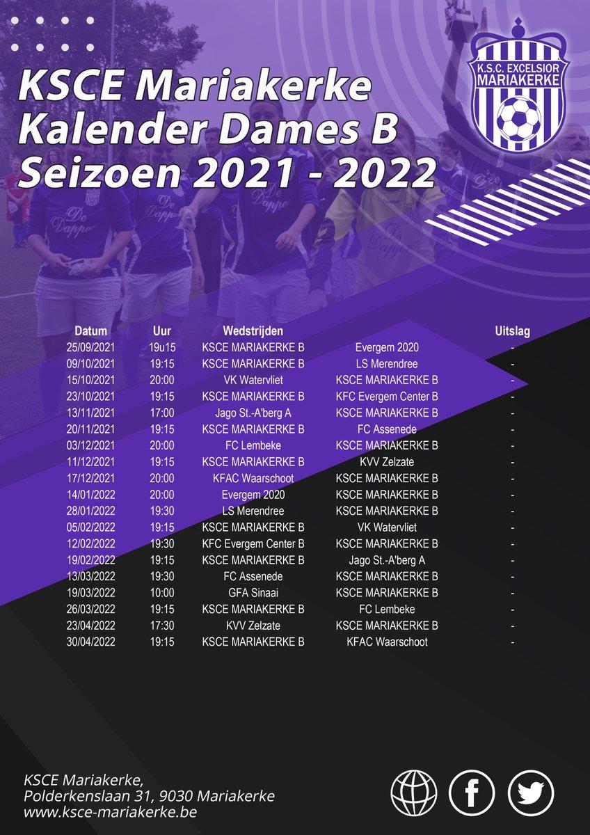 test Twitter Media - Wedstrijdkalender Dames B Seizoen 2021 - 2022 https://t.co/KFjh0X6YaU