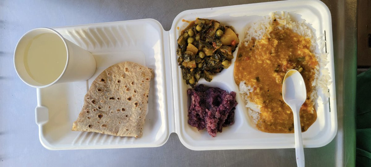 test Twitter Media - Hello everyone Friday's menu was rice, lentil soup, mixed vegetable curry, dessert, cold lemonade and hot flatbread! #SeattleFreeFoodTruck. https://t.co/I2ykGDs8Ph