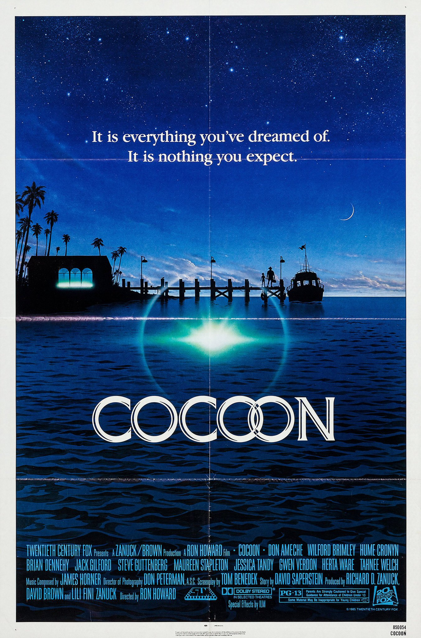 COCOON opened in theaters on this day in 1985. Poster art by John Alvin. https://t.co/Z9rcxhZaID