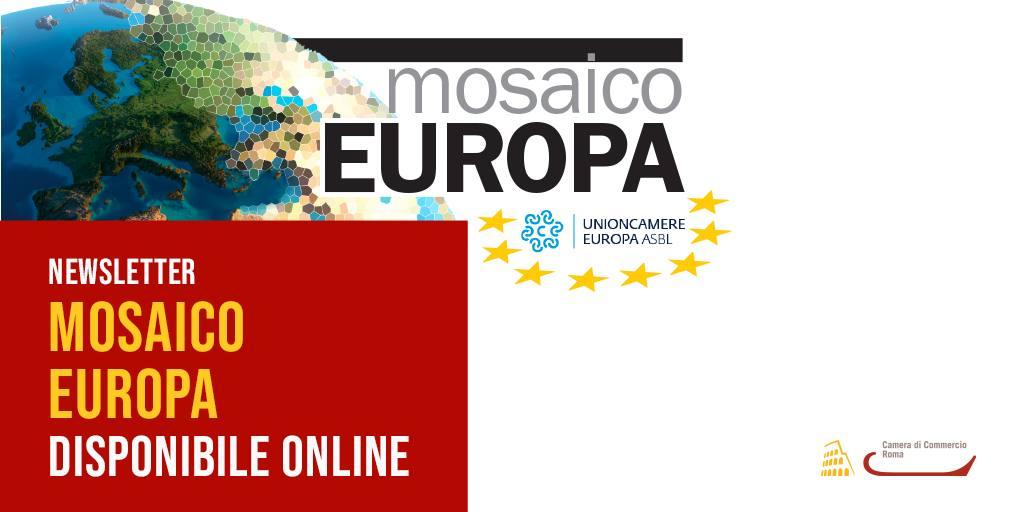 test Twitter Media - Online il N° 12_2021 di #MosaicoEuropa, la newsletter sui temi europei di prioritario interesse per le Camere di Commercio. In questa edizione focus su proprietà industriale, identità #digitale europea, legislazione UE, best practice italiane.  Leggi ➡️ https://t.co/8EPy1AnL7P https://t.co/gsA6xd1VsE