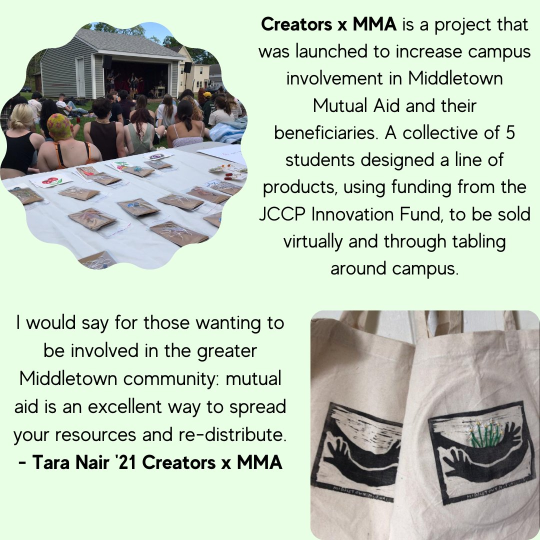test Twitter Media - Funded by the JCCP Innovation Fund - Creators x MMA raised money for Middletown Mutual Aid in a way that involved different parts of campus, building bridges between @wesleyan_u  and Middletown.  Read Innovation Fund Reports here: https://t.co/Po8lDxKV44 https://t.co/QiMKxGRTqU