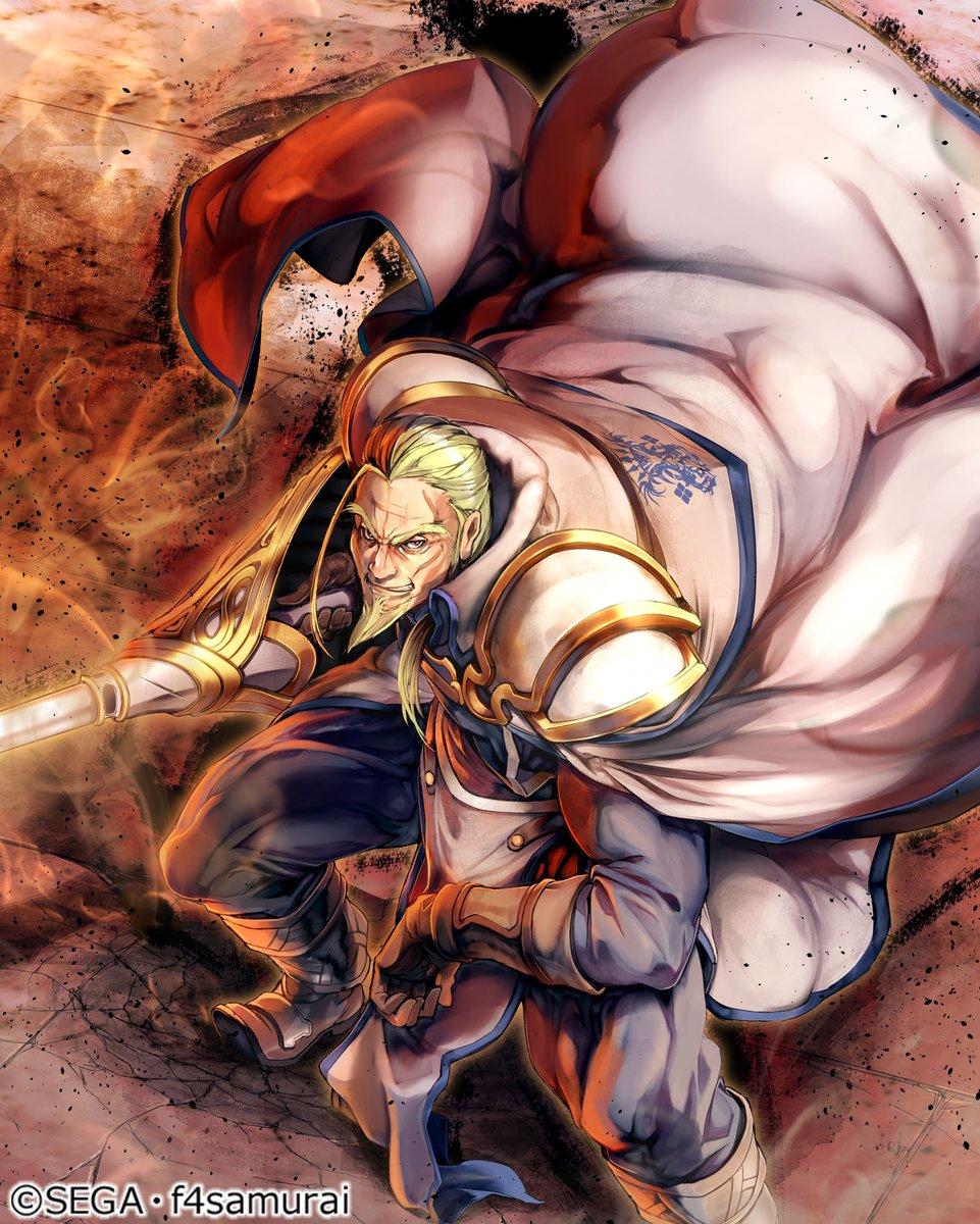 test ツイッターメディア - 【キャラクター誕生日】 本日7/31は不死身の英雄、バルトハウザーの誕生日です🎂 「王国騎士団第二部隊隊長、バルトハウザーだ。我が槍の一撃で、貴様に仇成す者すべてを打ち砕いてやろう!」 #オルサガ https://t.co/1ktXtGibsx