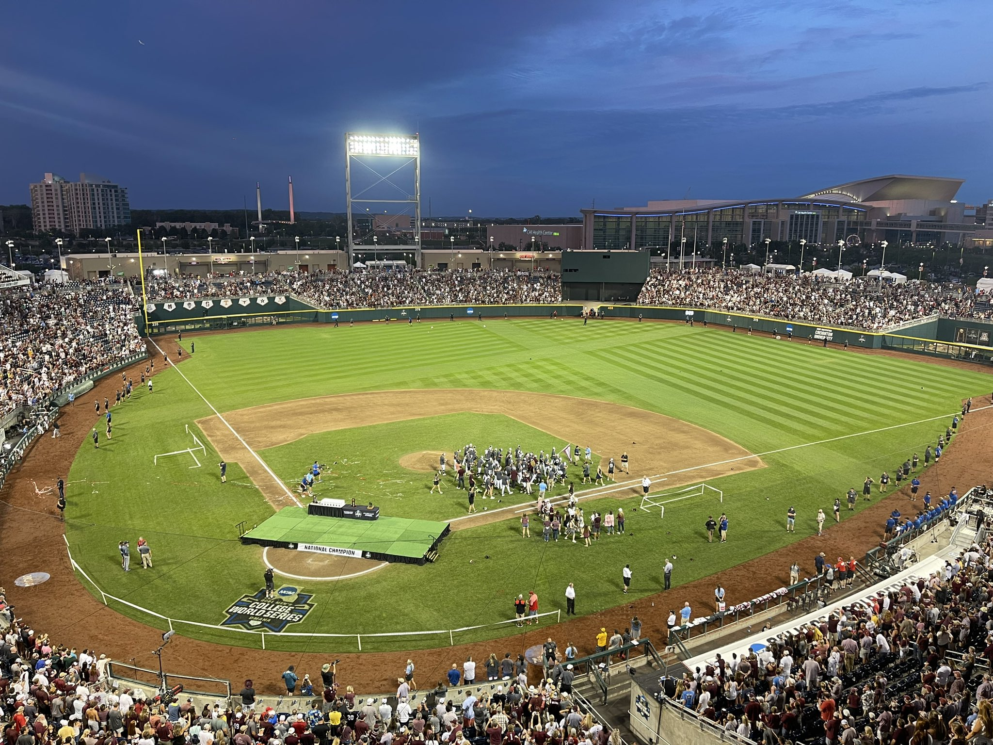 It was a season like no other. At one point, I wasn't sure we'd have a season. Then, I started it seeing @HailStateBB at Globe Life. It ends in the same fashion.  I think I can speak for the rest of the @d1baseball crew w/ a simple 'Thank You' to the college baseball community. https://t.co/n8QbCrXaCP