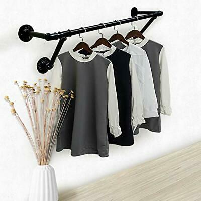 Wall Mount Industrial Vintage Clothing Store Coat Rack, Wall Hanging 31.5 in...