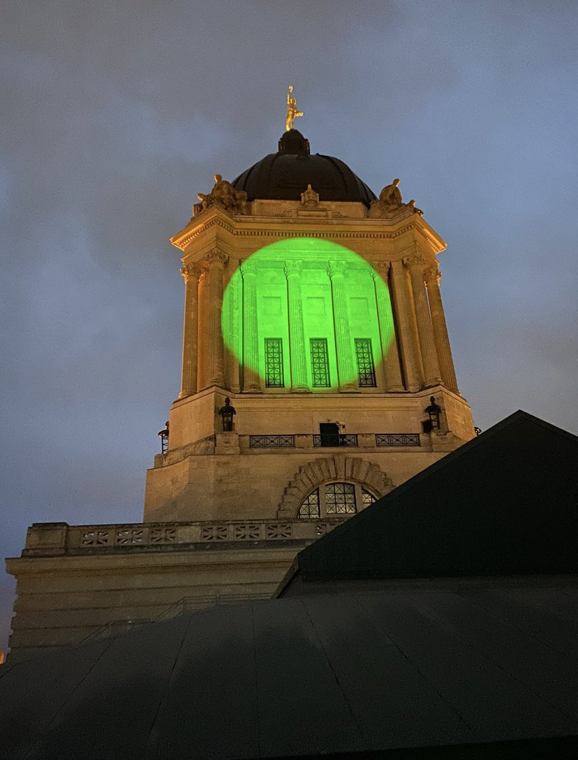 test Twitter Media - Pleased to proclaim yesterday, July 5 2021 as National Injury Prevention Day in Manitoba.  In honour of this day, the Legislative Building was lit up in green to show support and help spread the message about the importance of injury prevention across Canada. https://t.co/0GSdeiOTSK