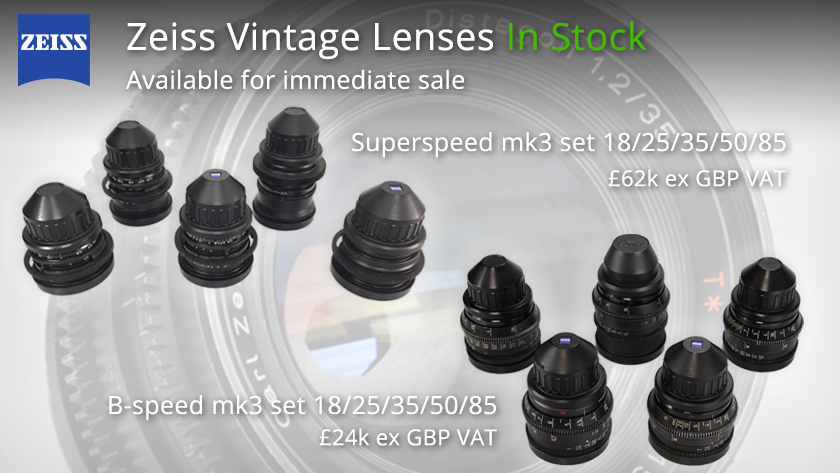 Zeiss vintage lenses in stock, available for immediate sale!