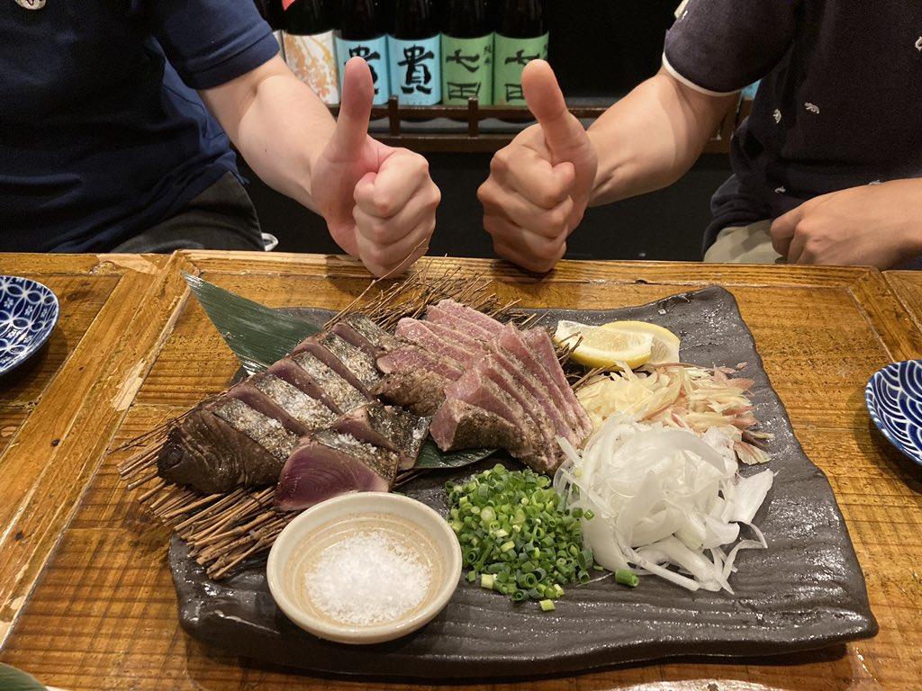 test ツイッターメディア - 最後に締めの高知料理を堪能させてもらいました(*´ω`*) 藁焼き、うちの燻製土鍋でも作れないか本気で検討してみよ! 美味しい日本酒も教えてもらい、新政6にハマりました。 今後は新政シリーズを飲み比べてみよ! https://t.co/UGgMTmE2ER