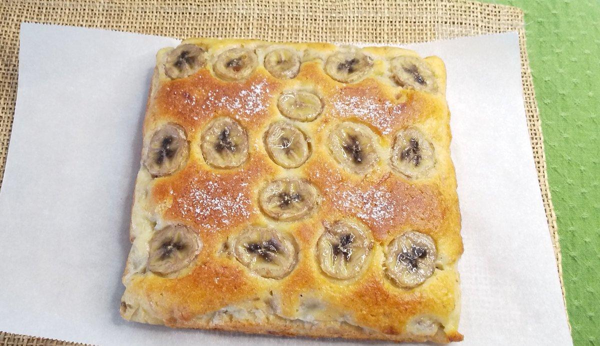 test ツイッターメディア - #手作りお菓子 おはようございます。☀️☀️  /  福砂屋風カステラ生地にバナナ混ぜ込んだ😋😋   ==バナナケーキ==☕️☕️   今回はバニラエッセンス入っています🤗🤗   生地はしっとりバニラとバナナ香り絶妙🥰🥰 \  #コストコ  #お花  #手捏ねパン  #ウオーキング https://t.co/lfaSyPZM4i