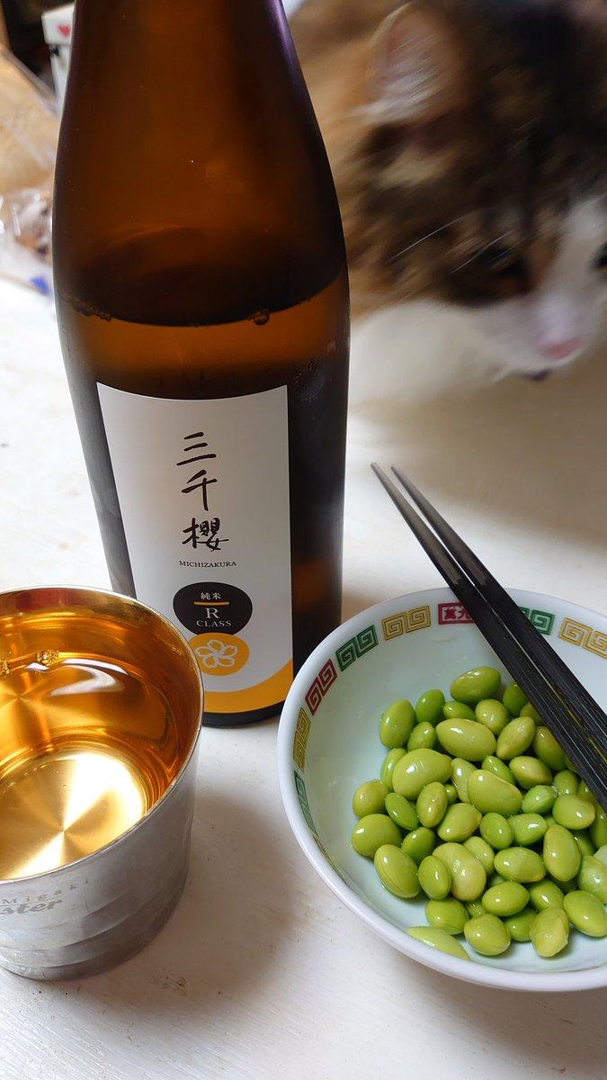 test ツイッターメディア - 母方の実家の町、東川町に去年出来た新しい酒蔵のお酒「三千櫻(みちざくら)」。フルーティな甘さが映える味だ。リーズナブルで日本酒初心者向けな感じ。枝豆の白出汁漬けと合う。 https://t.co/IV057YGApi