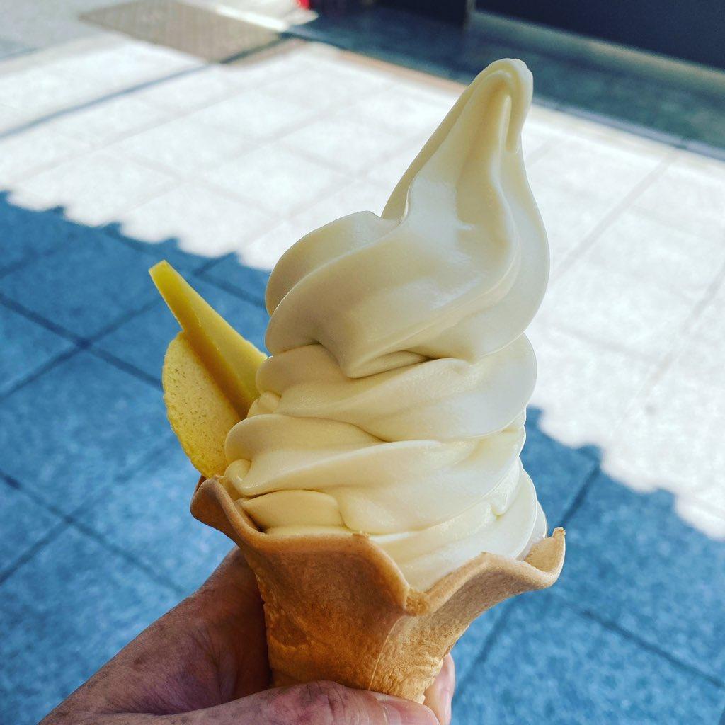 test ツイッターメディア - あまりに暑くて舟和の芋ようかんソフト。 https://t.co/ysofdNmRvV