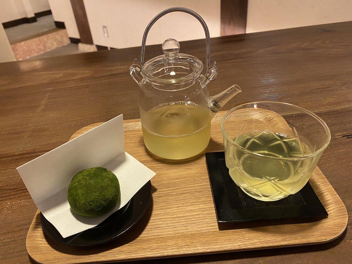 test ツイッターメディア - ≪今日のSOLATO ②≫ お茶で有名な四国中央市・新宮の名物「霧の森大福」を食べました。香り豊かで美味しい茶葉の中からさらに厳選された「かぶせ抹茶」を使用したこだわりの抹茶大福。中心には生クリームとお茶も最高!帰りは施設内の温泉に浸かってリフレッシュしました! #grc797 https://t.co/Ogr6oXfA7K