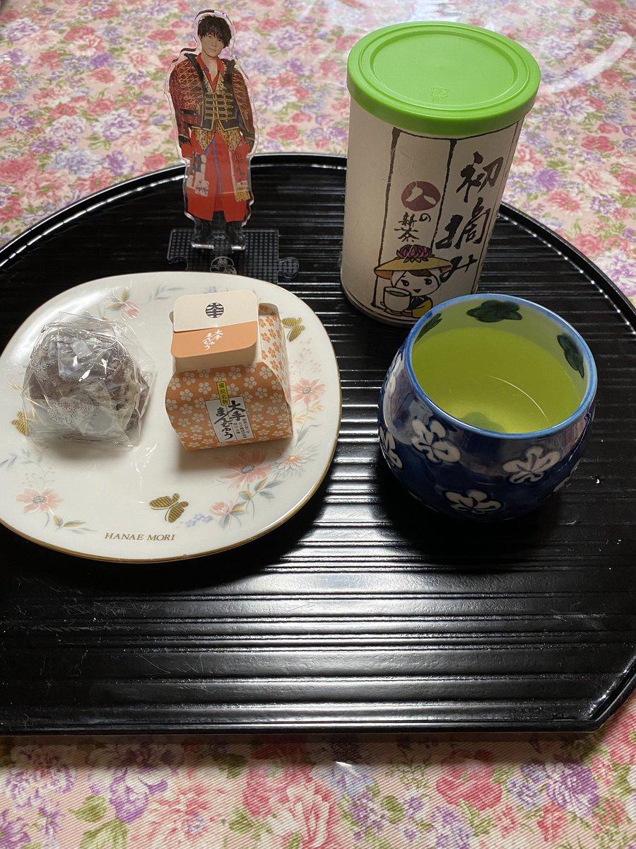test ツイッターメディア - #ラヴィット で、ゆごじゅりが、  食べた、大手饅頭に、初倉茶をそえて😊 https://t.co/xNtE5iUJIA